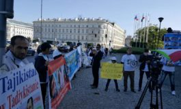 Tajik opposition protests inside and outside the OSCE HDIM 2016 in Warsaw